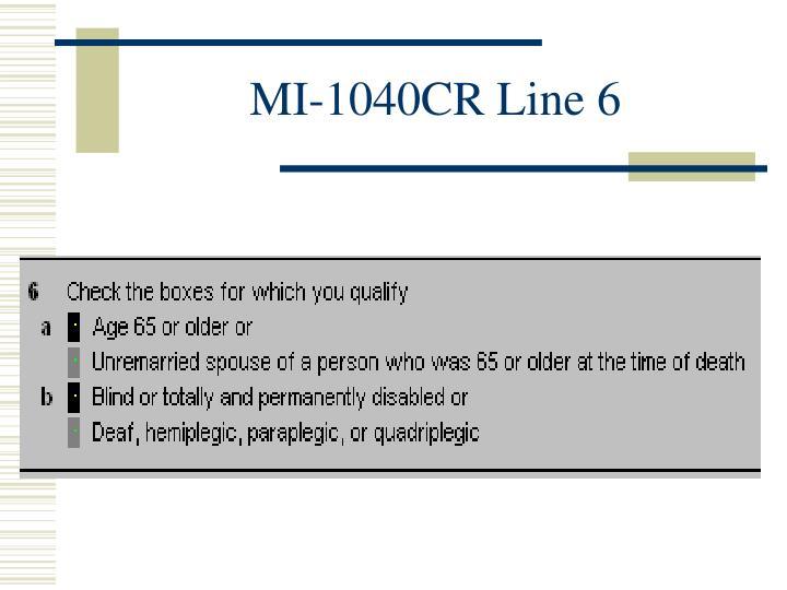 MI-1040CR Line 6