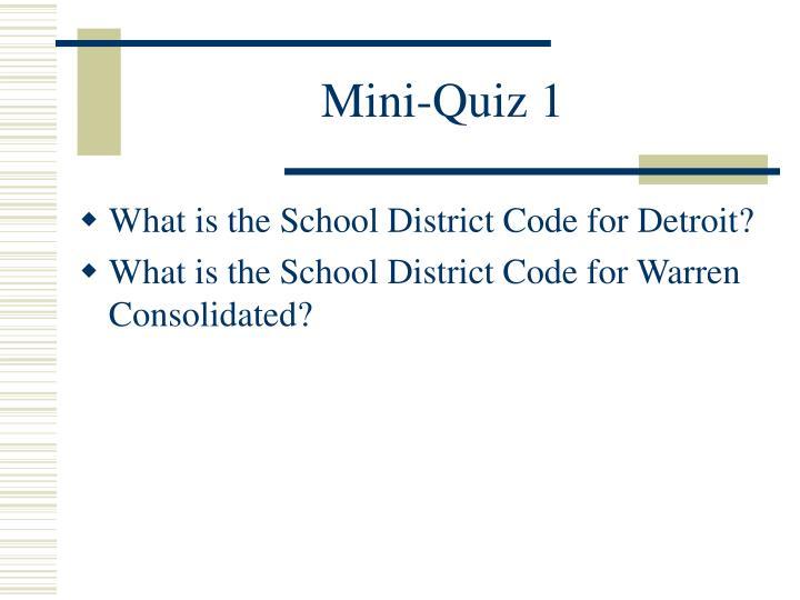 Mini-Quiz 1