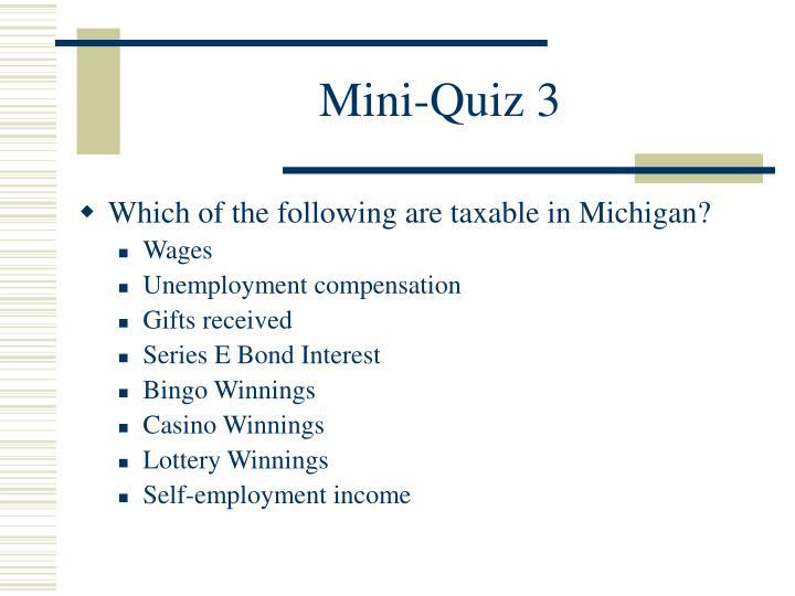 Mini-Quiz 3