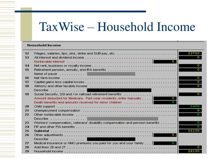 TaxWise – Household Income