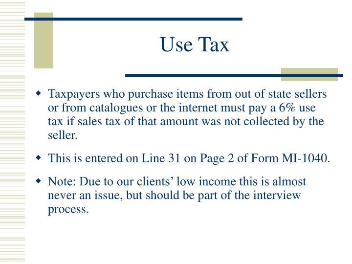 Use Tax