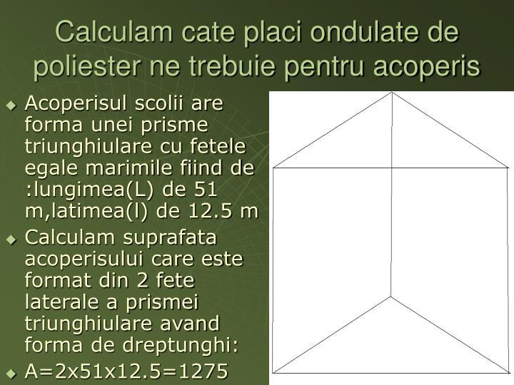 Calculam cate placi ondulate de poliester ne trebuie pentru acoperis