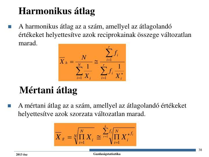 Harmonikus átlag