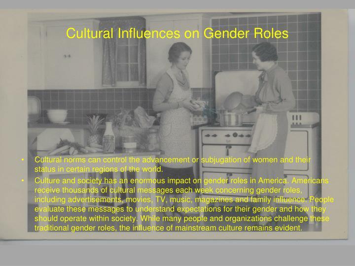 Cultural influences on gender roles