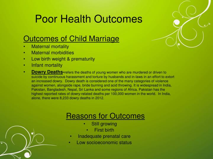 Poor Health Outcomes