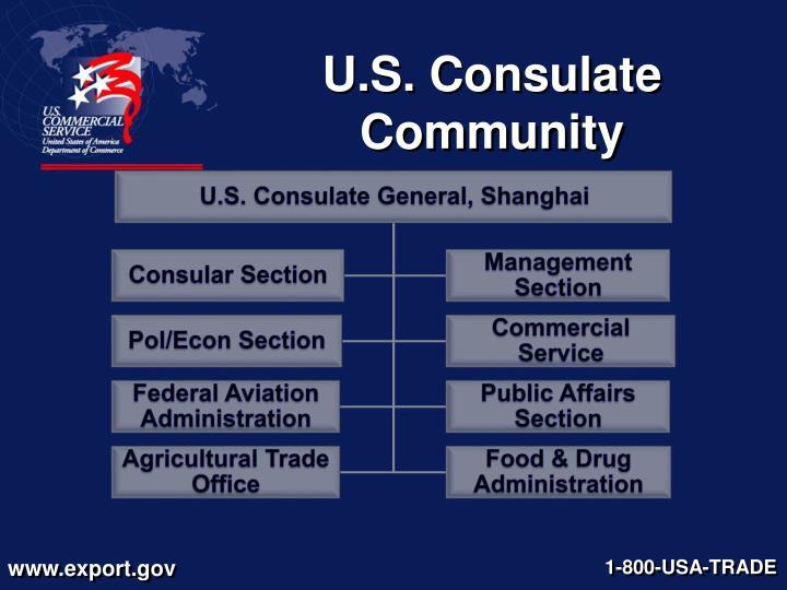 U s consulate community