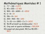 math matiques mentales 11