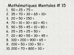 math matiques mentales 15