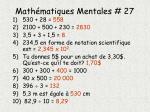 math matiques mentales 271
