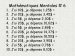 math matiques mentales 6