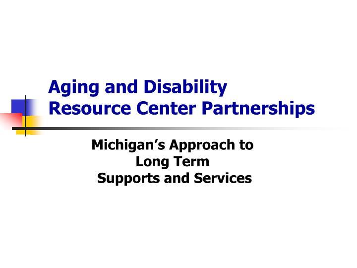 aging and disability resource center partnerships n.