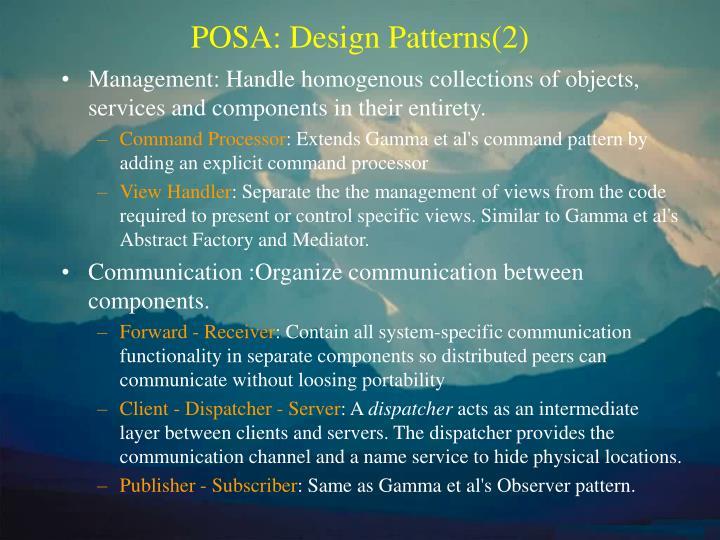 POSA: Design Patterns(2)