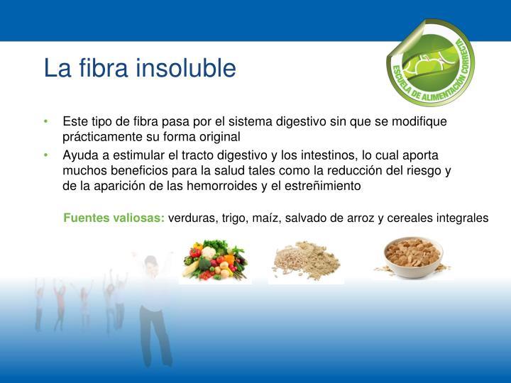 La fibra insoluble