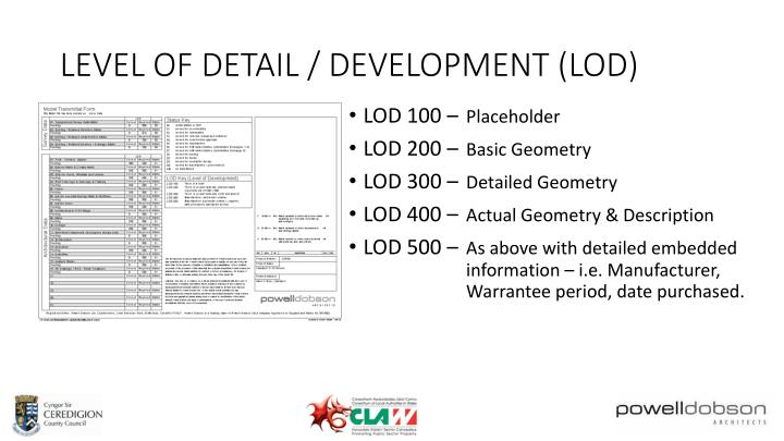 LEVEL OF DETAIL / DEVELOPMENT (LOD)