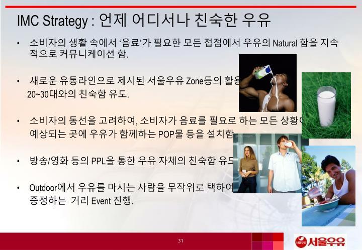 IMC Strategy :