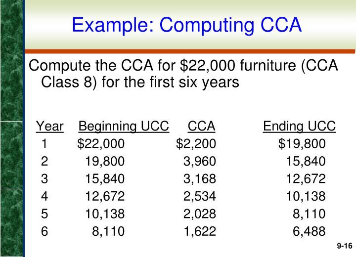 Example: Computing CCA