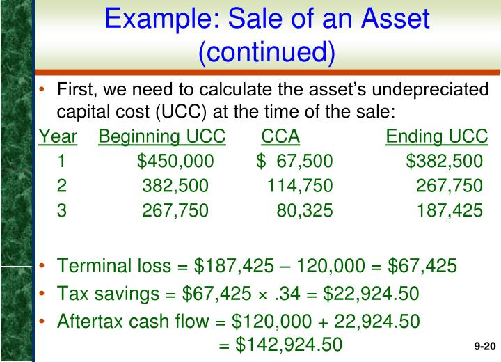 Example: Sale of an Asset (continued)