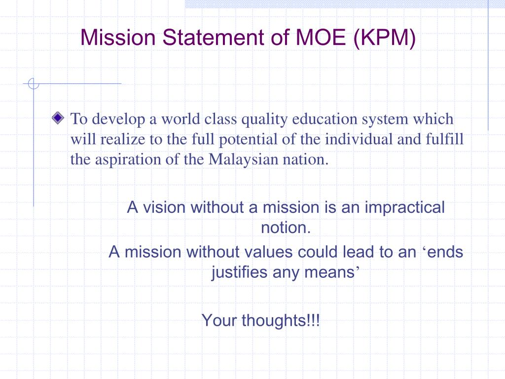 PPT - Vision/Mission Statement, Philosophy, Goals and ...
