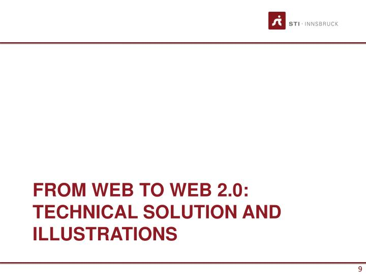 FROM WEB TO WEB 2.0: