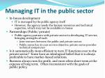 managing it in the public sector