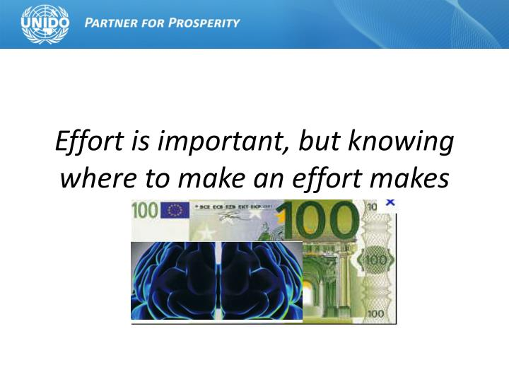 Effort is important, but knowing where to make an effort makes all the difference