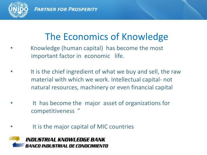 The economics of knowledge