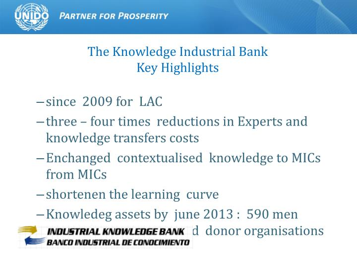 The Knowledge Industrial Bank
