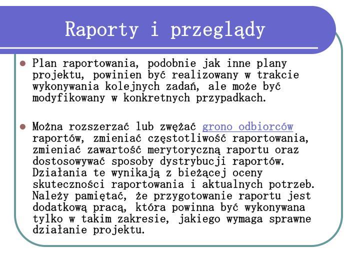 Raporty i przeglądy