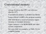 conventional memory