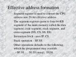 effective address formation