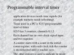 programmable interval timer
