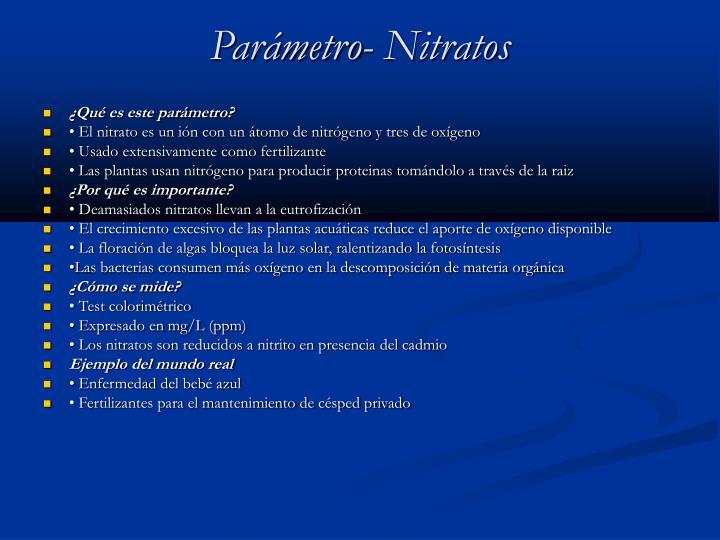 Parámetro- Nitratos