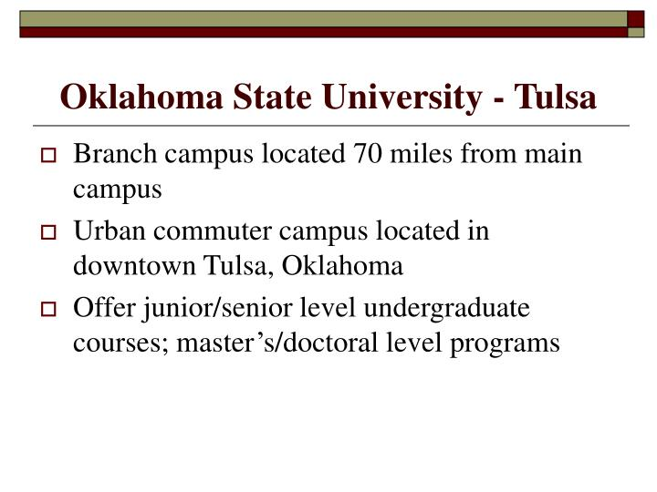 Oklahoma state university tulsa