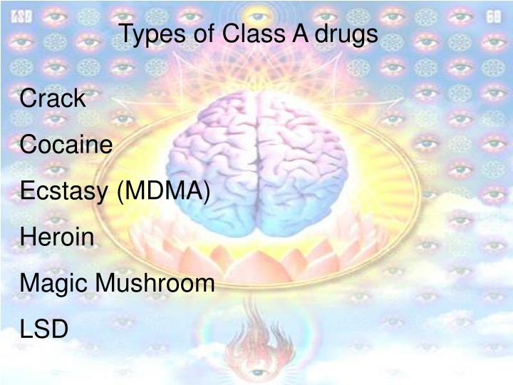 Types of Class A drugs