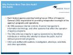 why perform more than one audit oig audits