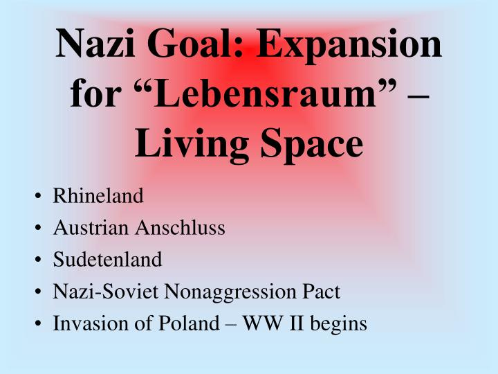 "Nazi Goal: Expansion for ""Lebensraum"" – Living Space"