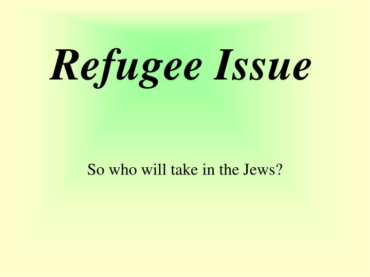 Refugee Issue