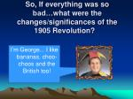 so if everything was so bad what were the changes significances of the 1905 revolution