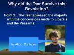 why did the tsar survive this revolution1