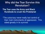 why did the tsar survive this revolution2
