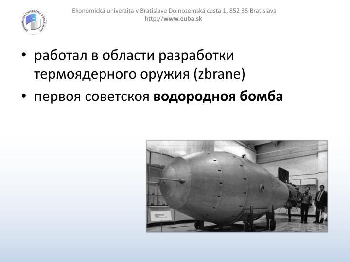 работал в области разработки термоядерного