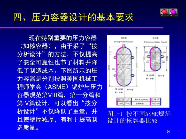 四、压力容器设计的基本要求