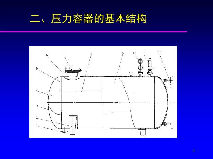 二、压力容器的基本结构