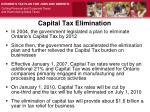capital tax elimination
