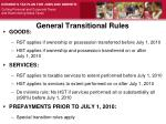 general transitional rules