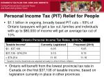 personal income tax pit relief for people