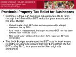 provincial property tax relief for businesses
