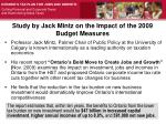 study by jack mintz on the impact of the 2009 budget measures