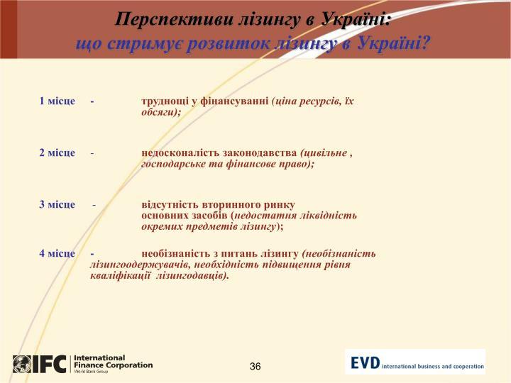 Перспективи лізингу в Україні: