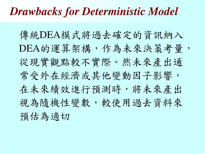 Drawbacks for Deterministic Model